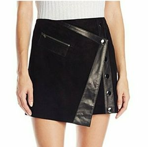 Real suede black skirt - NWT
